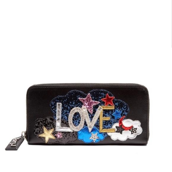796f6cbc0fc YSL Yves Saint Laurent Love Patch Black Wallet. M_5c32d2ea6197454adc174cd9